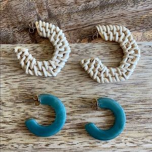 Anthropologie earrings (set of 2)
